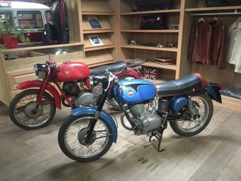 Collection of rare classic motorcycles